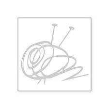 "Yarn Ball Cropped washout O Square Sticker 3"" x 3"""