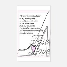 White Slippers Bridal Rectangle Decal