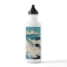 Vintage Waves Japanese Water Bottle