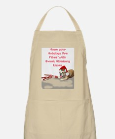 bulldog greeting card Apron