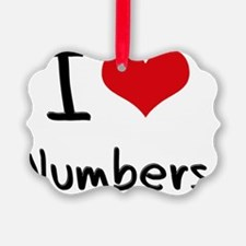 I Love Numbers Ornament