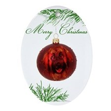 Leonberger Puppy Christmas Oval Ornament