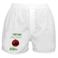 Leonberger Puppy Christmas Boxer Shorts
