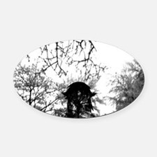 Forest of Antipathy - Wolf-girl in Oval Car Magnet