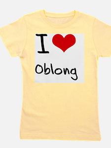 I Love Oblong Girl's Tee