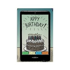 Appy Birthday! Rectangle Magnet
