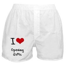 I Love Opening Gifts Boxer Shorts