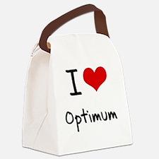 I Love Optimum Canvas Lunch Bag