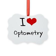 I Love Optometry Ornament