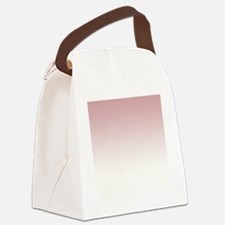 Pink White Canvas Lunch Bag