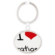 I Love Orations Oval Keychain