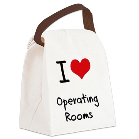 I Love Operating Rooms Canvas Lunch Bag
