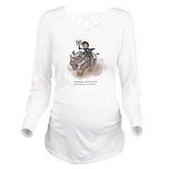 Princess On A Unicorn Long Sleeve Maternity Shirt