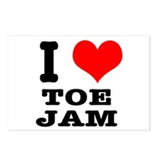 I Heart (Love) Toe Jam Postcards (Package of 8)