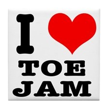 I Heart (Love) Toe Jam Tile Coaster