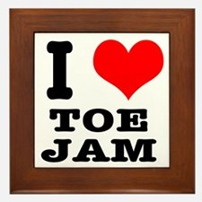 I Heart (Love) Toe Jam Framed Tile