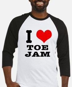 I Heart (Love) Toe Jam Baseball Jersey