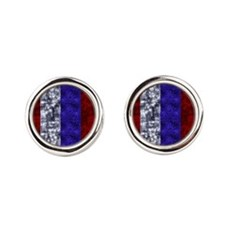 Red, White and Blue Fourth of July Cufflinks
