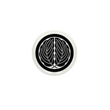 Embracing oak leaves in circle Mini Button (10 pac