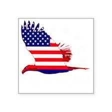 """Freedom eagle 2 Square Sticker 3"""" x 3"""""""