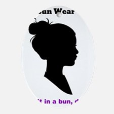 Bun Wear Oval Ornament