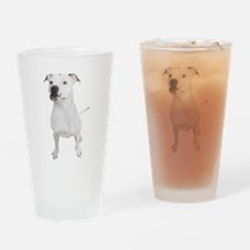 Cute Pit bull mom Drinking Glass