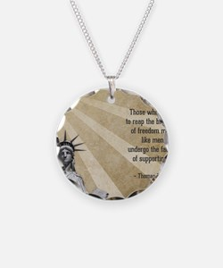 Thomas Paine Quote Necklace