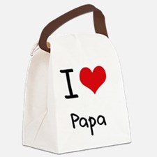 I Love Papa Canvas Lunch Bag