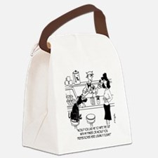 Dog Barista Canvas Lunch Bag