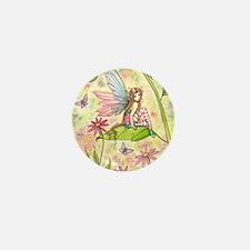 Spring Magic Fairy and Ladybug Mini Button