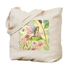 Spring Magic Fairy and Ladybug Tote Bag