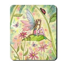 Spring Magic Fairy and Ladybug Mousepad