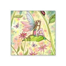 """Spring Magic Fairy and Lady Square Sticker 3"""" x 3"""""""