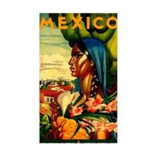 Vintage Mexico Lady Travel Decal