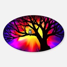 owl in tree Decal