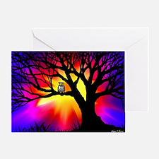 owl in tree Greeting Card