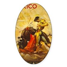 Vintage Mexico Bullfight Travel Decal