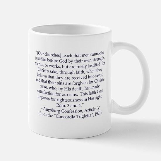 Augsburg Confession Article IV Mug (large) Mugs
