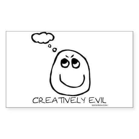 Creatively Evil Rectangle Sticker
