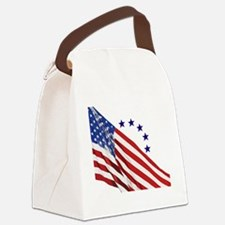 Old Glory Canvas Lunch Bag