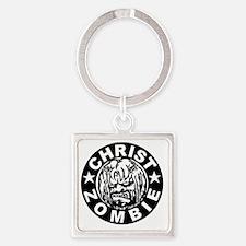 Christ Zombie Square Keychain
