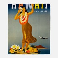 Vintage Hawaiian Travel Throw Blanket
