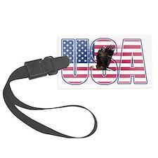 U.S.A. With Flag & Eagle Luggage Tag