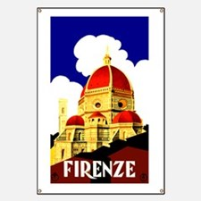 Vintage Florence Italy Travel Banner