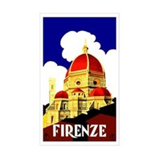 Vintage Florence Italy Travel Stickers
