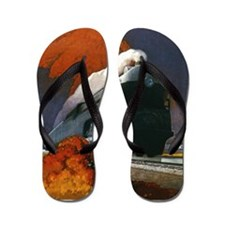 Empire State Express Railroad Travel Flip Flops