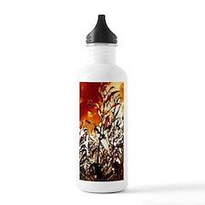 Fire in the corn field Sports Water Bottle