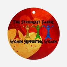 Women supporting Women Round Ornament