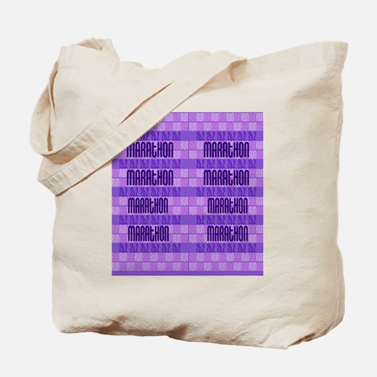 Marathon Run Tote Bag