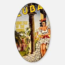 Vintage Cuba Tropics Travel Decal